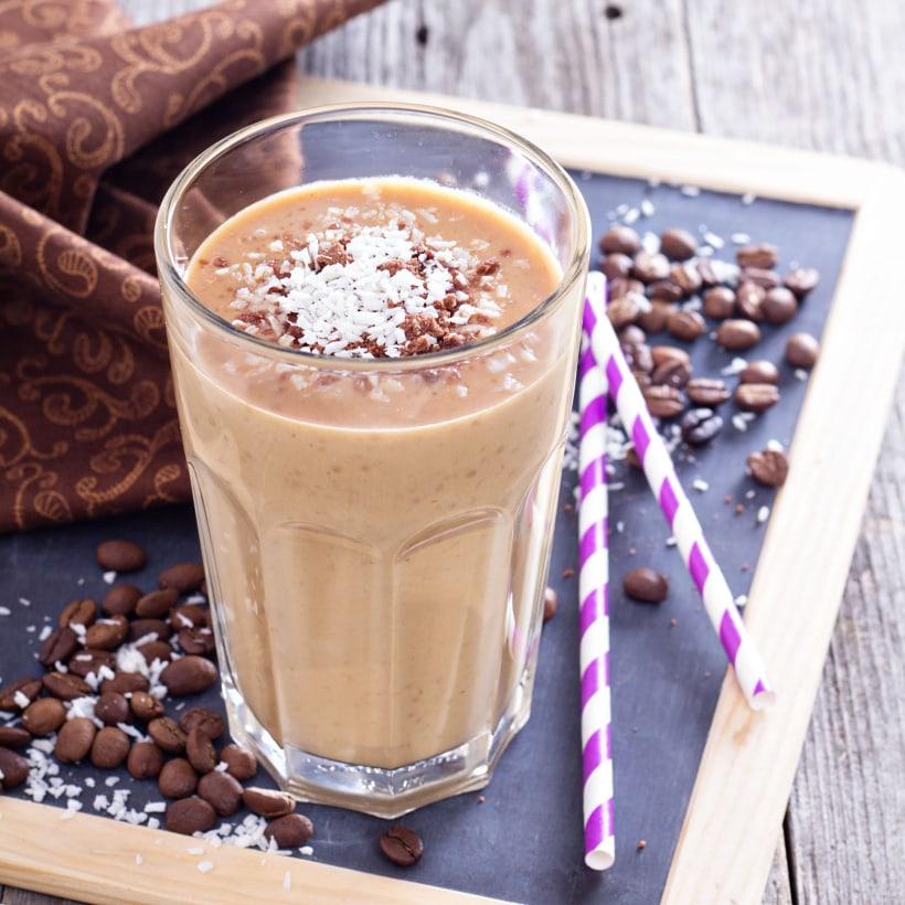 smoothie cioccolato caffe cocco